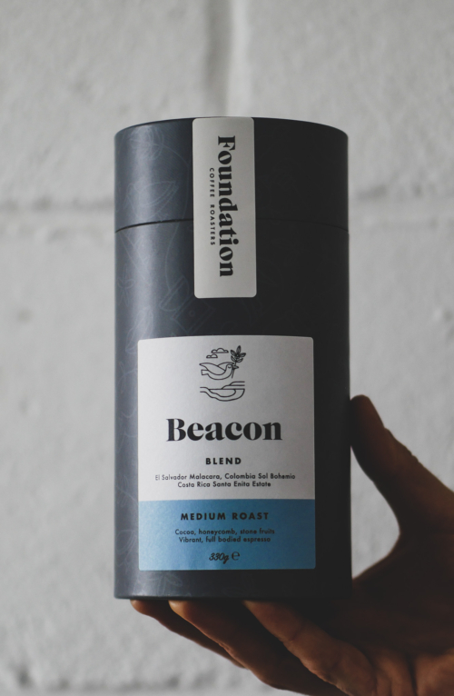 Our Beacon, medium roast coffee blend is a vibrant