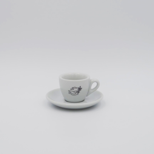 Foundation Espresso Cup in classic white A stylish and heavy weight espresso cup with our iconic branding. Tazza Rapida Italian Porcelain