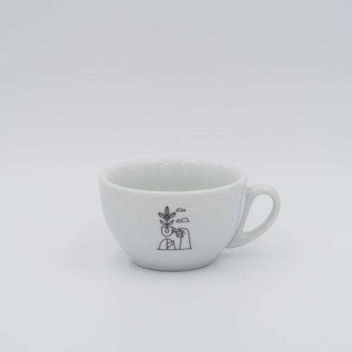 Latte white 10oz Stylish and heavyweight porcelain Latte cup. Foundation branding Tazza Rapida Italian Porcelain